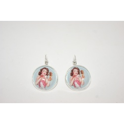"boucles d'oreilles dormeuse ""la pin up gourmande """