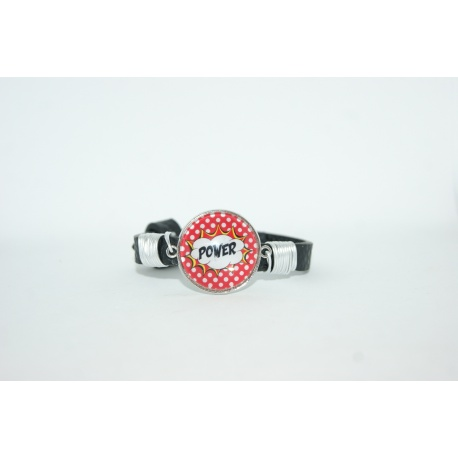 "bracelet pop art ""power """