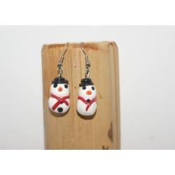 boucles d oreilles bonhomme de neige