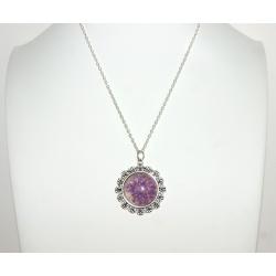 pendentif bohème fleur violette0
