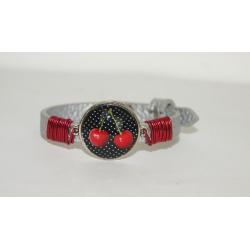 bracelet réglable cerise