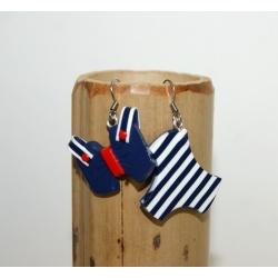 "boucles d'oreilles maillot de bain "" marin """