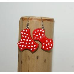 """boucles d oreilles maillots de bain """" marin à pois """""""
