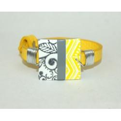 bracelet simili jaune et polymère