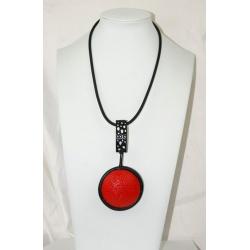 pendentif moderne stylisé rouge et noir