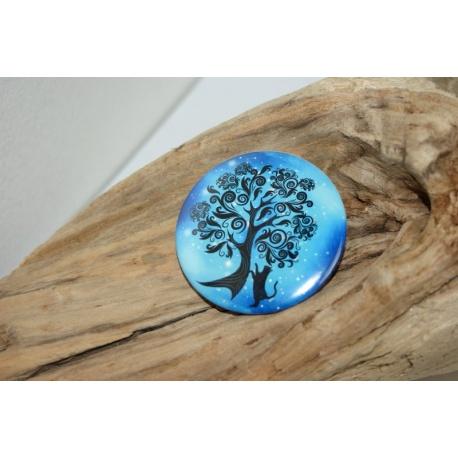 badge bleu arbre de vie