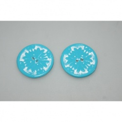 boutons polymère turquoise 3,50cm
