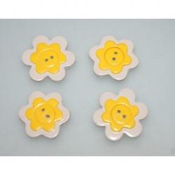 bouton polymère fleur 3 cm