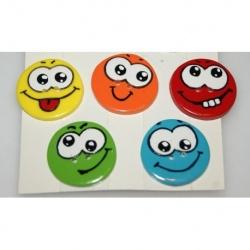 LOT boutons polymère smiley 3 cm