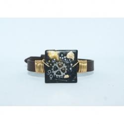 bracelet steampunk noir